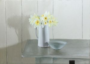Original Oil Still Life 'Daffodils With Bowl'