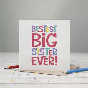 Bestest Big Sister Card