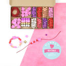 Personalised Love And Hearts Bracelet Making Kit