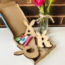 Paint Your Own Easter Bunny Letters Letterbox Craft Kit