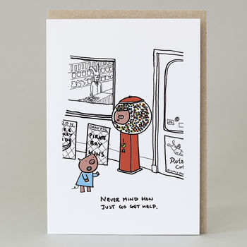 Pig In A Sweet Machine Card