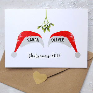 Personalised Christmas Couple Card - cards & wrap