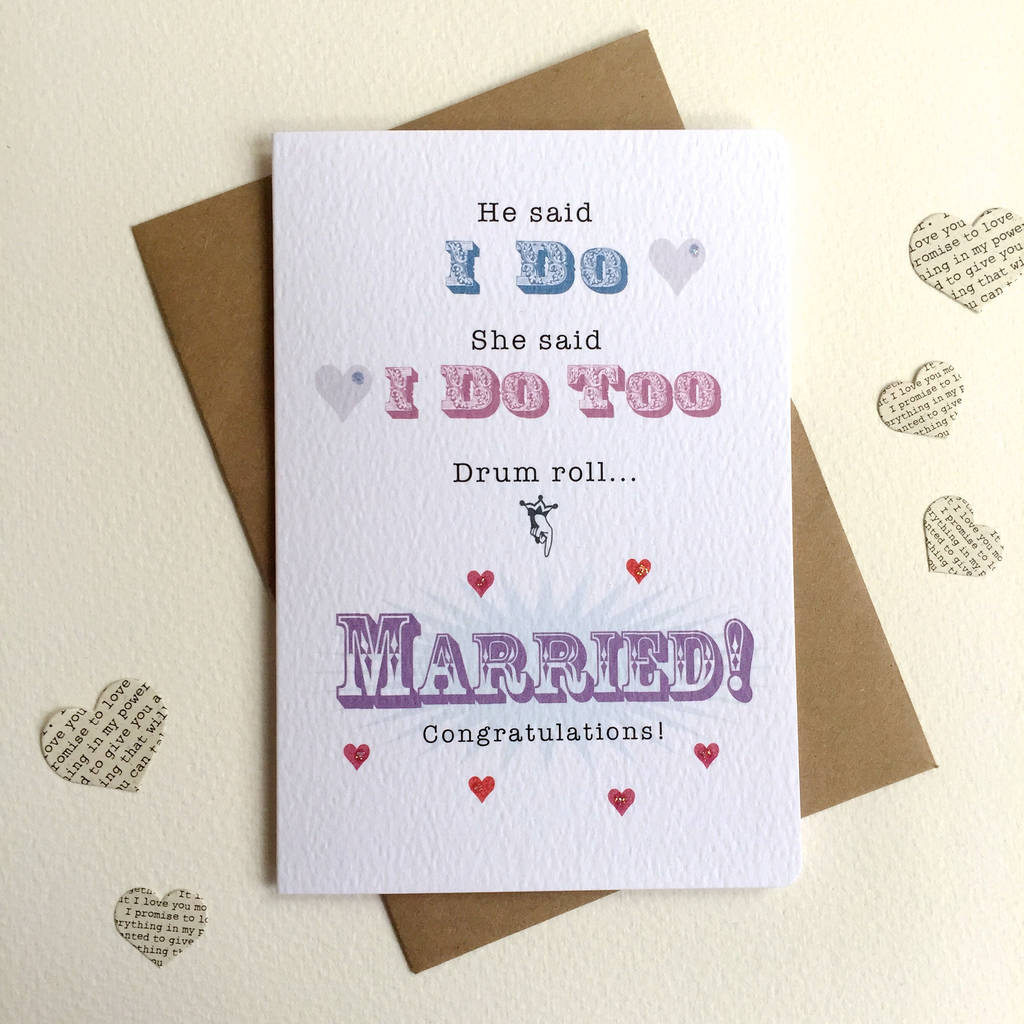 Drum Roll Married Wedding Card By Arbee Notonthehighstreet Com