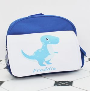 Personalised Dinosaur School Bag - bags, purses & wallets