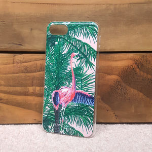 Flamingo Palm Tree iPhone Seven Eight Phone Case