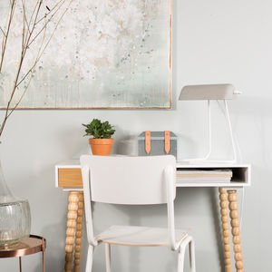 Scandinavian Desk With Stacked Ball Legs - desks