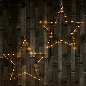 LED Hanging Star Light In Bronze - christmas sale