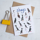 'Shags' Illustrated Bird Pun Card