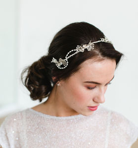 Pearl Crystal Twist Bridal Headpiece - wedding fashion