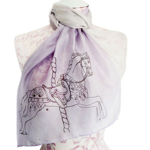 Paris Carousel Horse Silk Scarf - women's accessories sale
