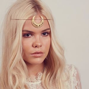 Eartha Crescent Moon Tiara Headband - wedding jewellery