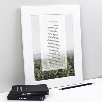 Personalised Daddy Poem Print