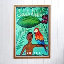 Original United Airlines Travel Poster, South America
