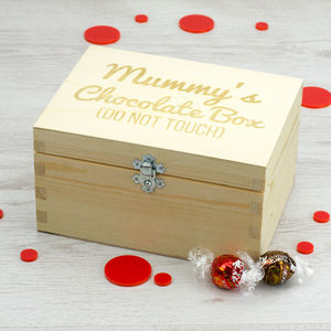 Personalised Wooden Chocolate Box