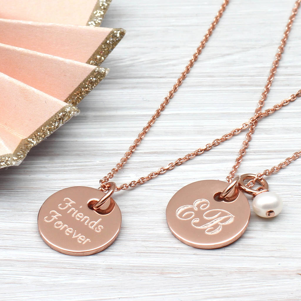 Personalised Gold Disc Charm Necklace By Hurleyburley Lighting Diagram Jewelry