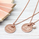 Personalised Gold Disc Charm Necklace