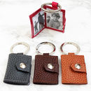Personalised Mini Leather Photo Keyring