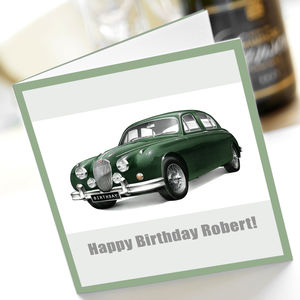 Jaguar Mk2 Birthday Card