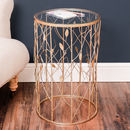 Copper Botanical Forest Side Table