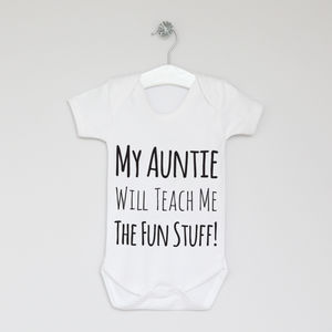 Fun Stuff Slogan Bodysuit - babygrows