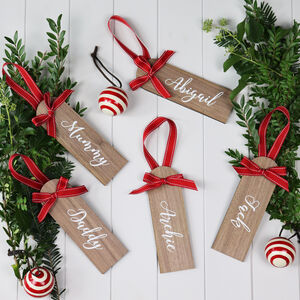 Personalised Wooden Stocking Name Tag