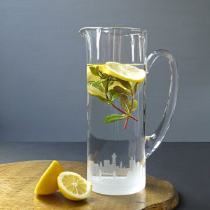 London Skyline Glass Cocktail Jug