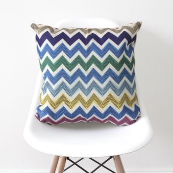 Chevrons Geometric Cushion Cover