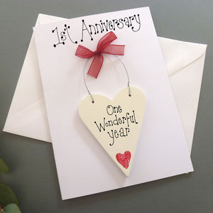 1st Anniversary Personalised Card - anniversary cards