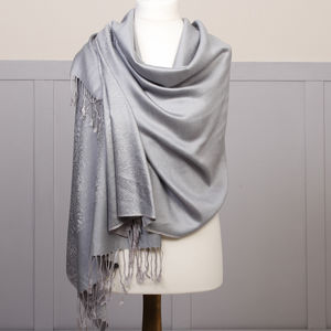 French Grey Pashmina - women's accessories