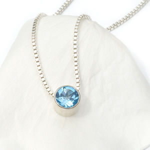 Blue Topaz Necklace December Birthstone - necklaces & pendants