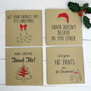 Red Glitter Christmas Card Set