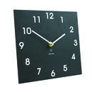 Classic Black Clock Made From Recycled Paper Packaging