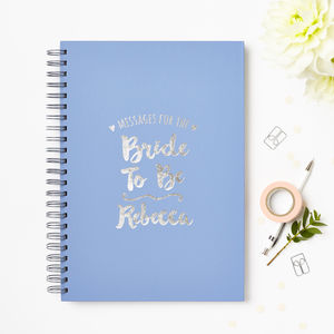 Personalised Messages For The Bride Book - the morning of the big day