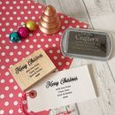 Personalised Christmas Message Stamp