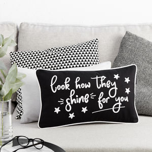 Look How They Shine For You Boudoir Cushion