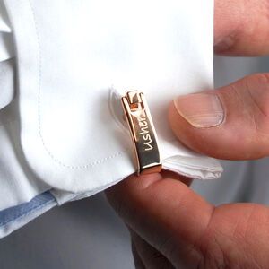 Personalised Rose Gold Wrap Style Cufflinks