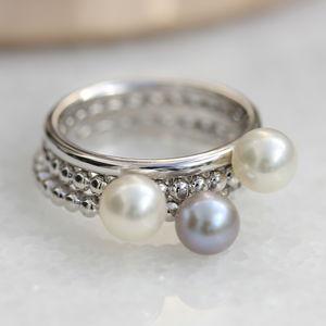 Stacking Pearl Ring - rings