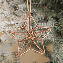 Copper Star Hanging Christmas Decoration