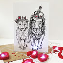 King And Queen Of Hearts Valentine Card
