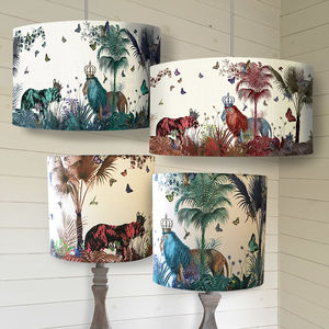 Tropical Lions Lampshade - office & study