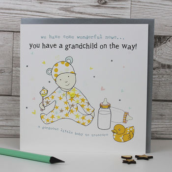 Grandchild On The Way Announcement Card