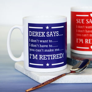 Personalised Retirement Mug - kitchen
