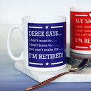 Personalised Retirement Mug