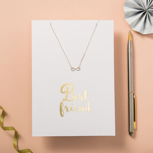 My Best Friend Card And Necklace Set - thank you gifts