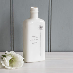 Personalised 'Loves Me…' Porcelain Bottle Vase