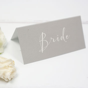 Grey Elegance Wedding Place Card