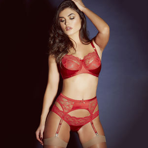 Sophia Red Lace Bra - women's fashion