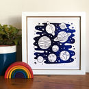 Foil Space And Planets Print