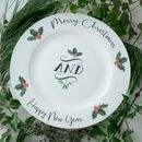 Personalised Christmas Pudding And Cake Plate