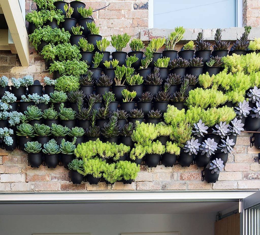 Vertical Garden Pot Outdoor vertical wall garden planters by marquis dawe outdoor vertical wall garden planters workwithnaturefo